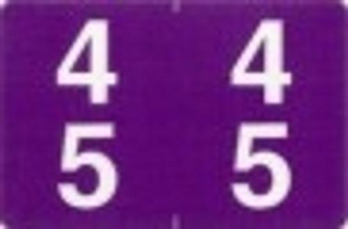 ACME Numeric Double Digit Labels - 40-49 - Matte - 500/Roll