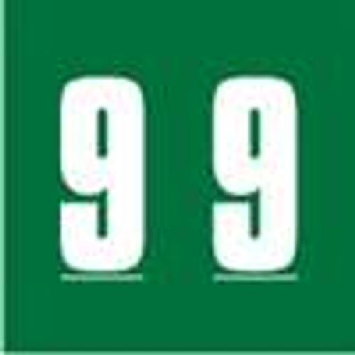 Ames Numeric Labels - L-A-00178RL Series (Rolls) - 9 - Green