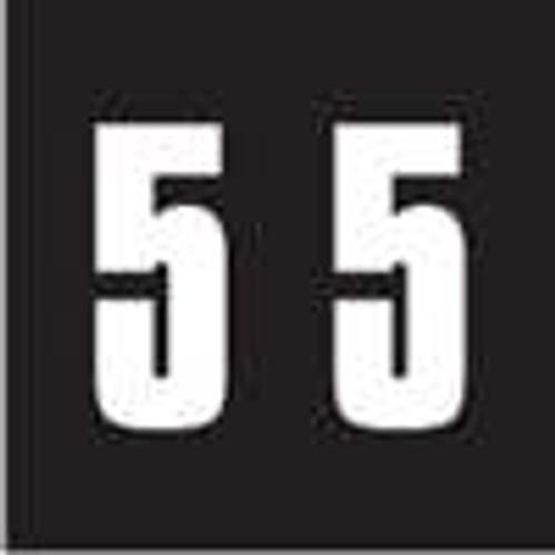 Ames Numeric Labels - L-A-00178RL Series (Rolls) - 5 - Black
