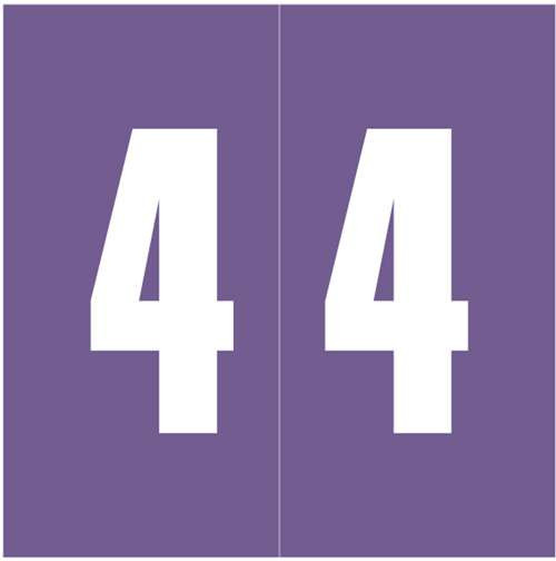 Ames Numeric Labels - L-A-00178RLP Series (Rolls) - 4 - Purple