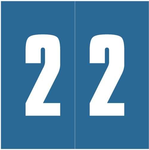 Ames Numeric Labels - L-A-00178RLP Series (Rolls) - 2 - Blue