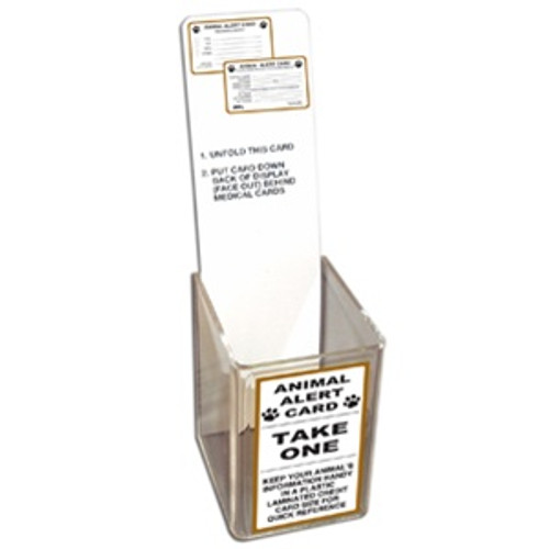 Animal Alert Card Acrylic Display w/Label and Placard ONLY (no cards included)