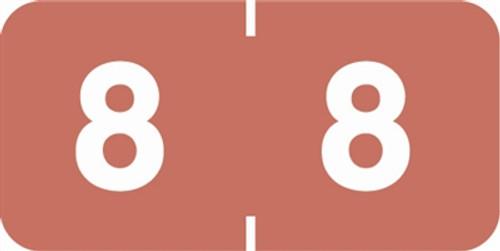 Ames/St John Numeric Label - AMSM Series - 8 - Pink
