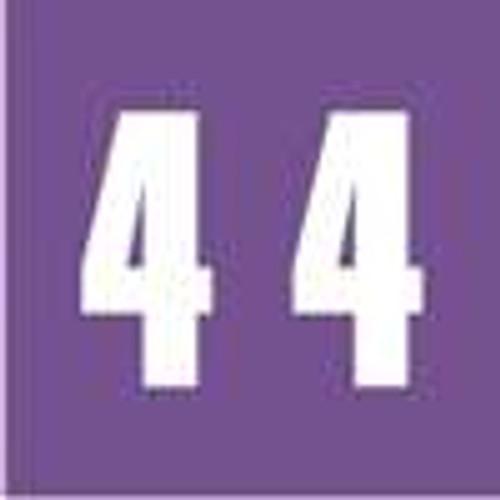 Ames Numeric Labels - L-A-00178RL Series (Rolls) - 4 - Purple