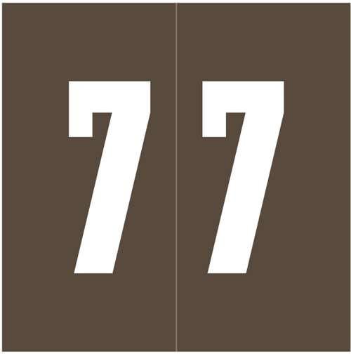 Ames Numeric Labels - L-A-00178RLP Series (Rolls) - 7 - Brown