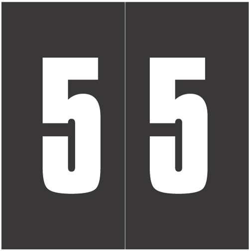 Ames Numeric Labels - L-A-00178RLP Series (Rolls) - 5 - Black