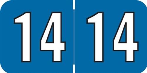 Amerifile Yearband Label (Rolls) 500 - 2014 - Blue - Laminated