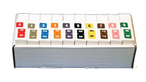 Ames/St John Numeric Label - AMSM Series - Complete Set 0-9