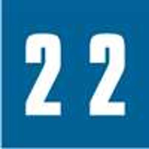 Ames Numeric Labels - L-A-00178RL Series (Rolls) - 2 - Blue