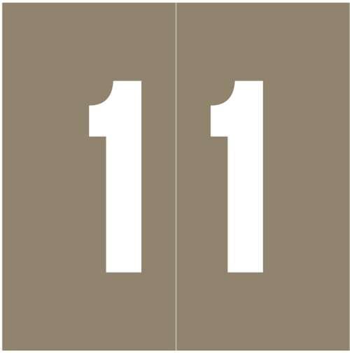 Ames Numeric Labels - L-A-00178RLP Series (Rolls) - 1 - Gray