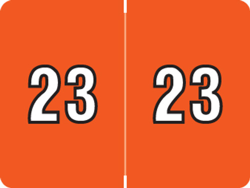 DataFile Yearband Label (Rolls of 500) - 2023 - Orange - AL8800 Series