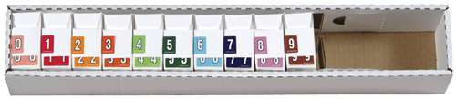 Datafile Numeric Labels - AL8700 Series (Rolls) - 0-9 Set with tray