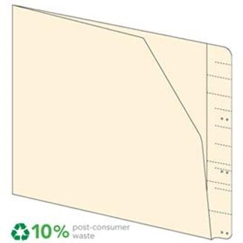 End Tab File Pocket Folders - Manila - Letter Size - 11 pt - Diagonal Cut Front - 100/Box