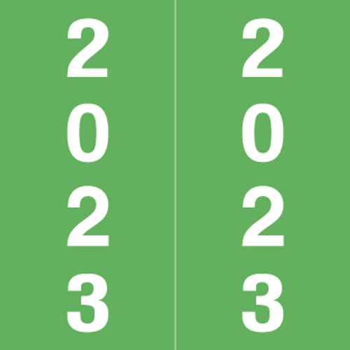 IFC Yearband Label (Rolls of 500) - 2023 - Green - AFYM Series - Laminated