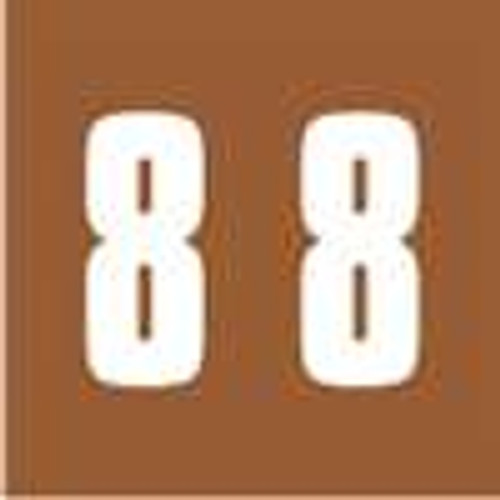 IFC Numeric Labels - CL2300 System #3 Series (Rolls) - 8 - Brown