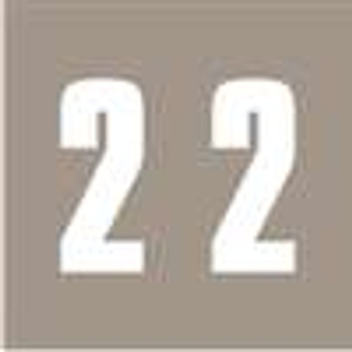 IFC Numeric Labels - CL2300 System #3 Series (Rolls) - 2 - Gray