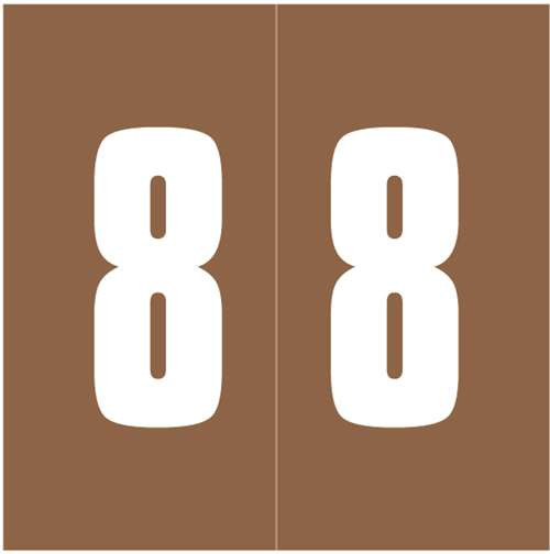 IFC Numeric Labels - CL3300 System #3 Series (Rolls) - 8 - Brown
