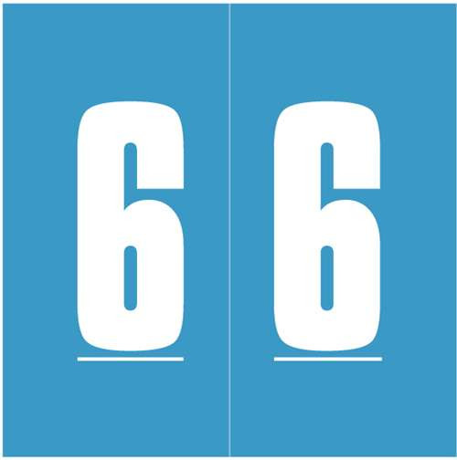 IFC Numeric Labels - CL3300 System #3 Series (Rolls) - 6 - Blue