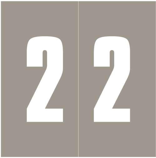 IFC Numeric Labels - CL3300 System #3 Series (Rolls) - 2 - Gray
