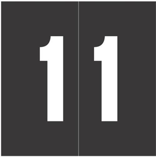 IFC Numeric Labels - CL3300 System #3 Series (Rolls) - 1 - Black