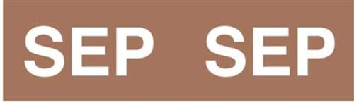 IFC Month Designation Labels (Rolls) - September/Brown