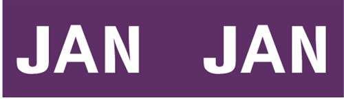 IFC Month Designation Labels (Rolls) - January/Purple