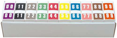 IFC Numeric Labels - CL3300 System #3 Series (Rolls) - 0-9 Set with tray