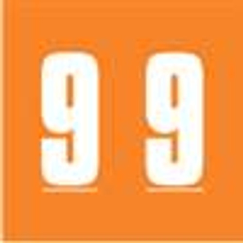 IFC Numeric Labels - CL2300 System #3 Series (Rolls) - 9 - Orange