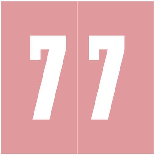 IFC Numeric Labels - CL3300 System #3 Series (Rolls) - 7 - Pink