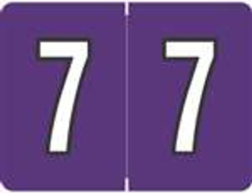 Datafile Numeric Labels - AL8700 Series (Rolls) - 7 - Purple