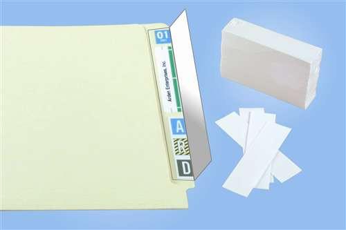 "Name Label Folder Protectors - 2"" W X 8"" H - 500/Pack"