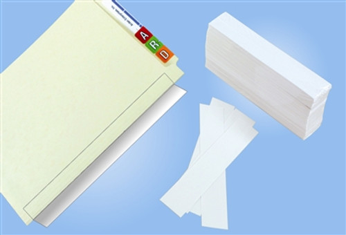 "Name Label Folder Protectors - 2"" W X 11"" H - 500 Pack"