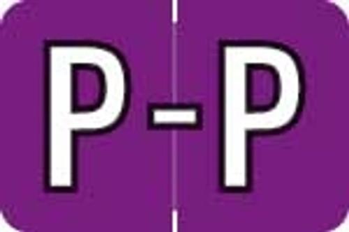 Barkley Systems Alphabetic Labels - ACPM Series (Rolls) P - Grape
