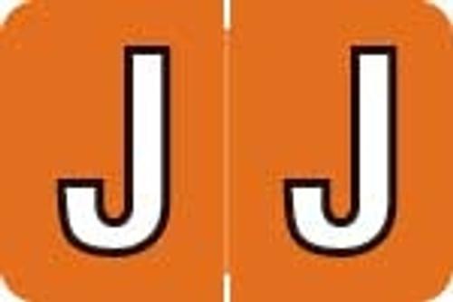 Barkley Systems Alphabetic Labels - ACPM Series (Rolls) J - Tangerine