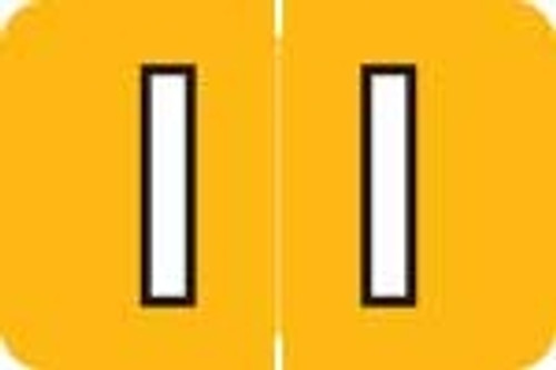 Barkley Systems Alphabetic Labels - ACPM Series (Rolls) I - Amber