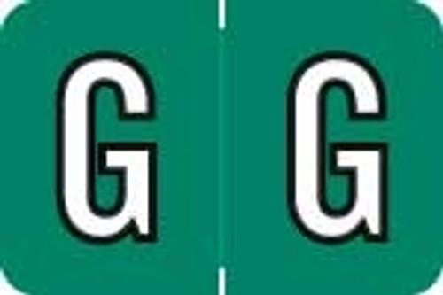 Barkley Systems Alphabetic Labels - ACPM Series (Rolls) G - Emerald