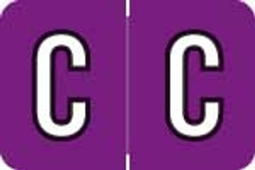 Barkley Systems Alphabetic Labels - ACPM Series (Rolls) C - Grape