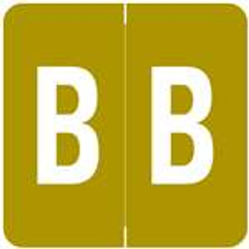 Barkley Systems Alphabetic Labels - ADPK Series (Sheets) B- Gold