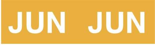 IFC Month Designation Labels (Rolls) - June/Yellow