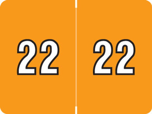 DataFile Yearband Label (Rolls of 500) - 2022 - Orange - AL8800 Series