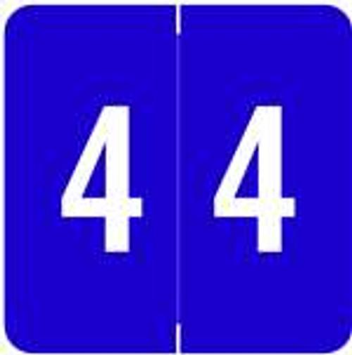 ACME Numeric Labels - ACNM Series (Rolls) - 4 - Purple