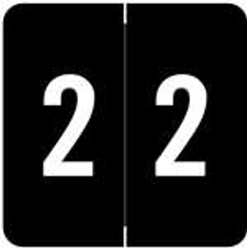 ACME Numeric Labels - ACNM Series(Rolls) - 2 - Black
