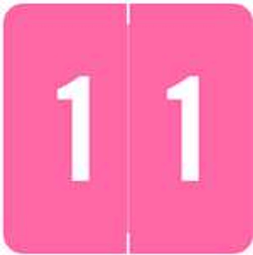 ACME Numeric Labels - ACNM Series (Rolls) - 1 - Pink