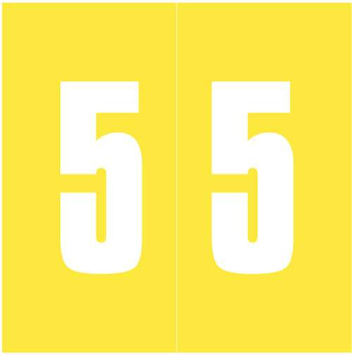 IFC Numeric Labels - CL3300 System #3 Series (Rolls) - 5 - Yellow