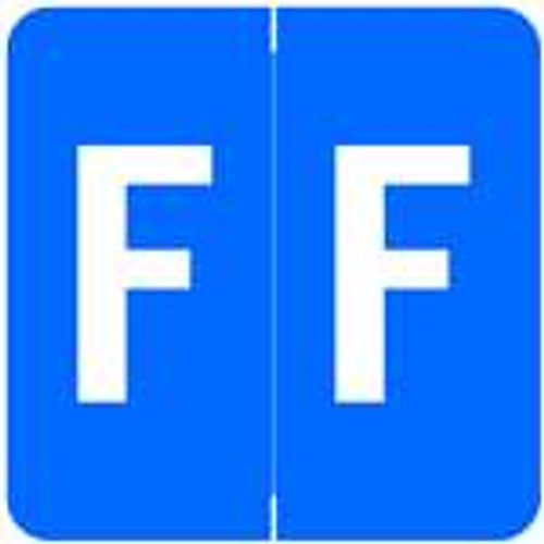 Barkley Systems Alphabetic Labels - ADPK Series (Sheets) F- Dk. Blue