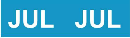 IFC Month Designation Labels (Rolls) - July/Blue
