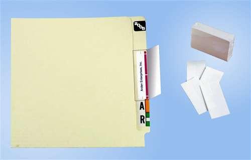 """Name Label Folder Protectors - AD24-PK - 2"""" x 4"""" - 500 Label Protectors"""