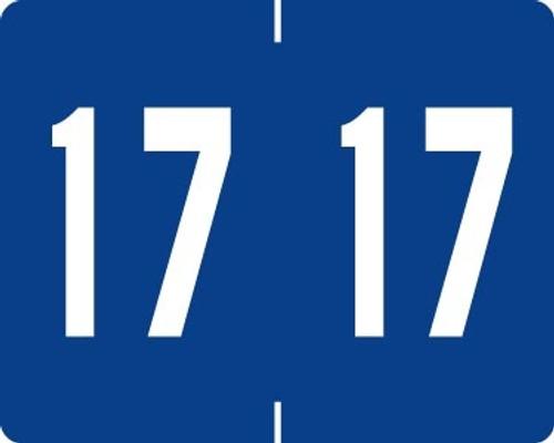 TAB Yearband Label (Rolls of 500) - 2017 - Dark Blue - A1309 Series