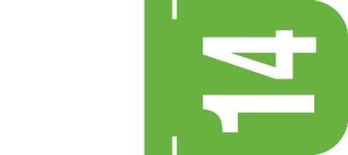 Tab Yearband Label (Rolls) 500 - 2014 - Lt. Green / Top Tab - Vinyl