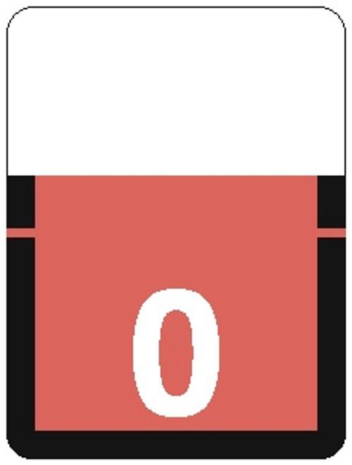 TAB Numeric Label - 1306 Series (Rolls) - 0 - Pink